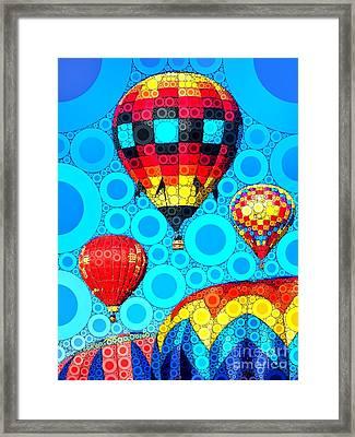 Colorful Hot Air Balloons Framed Print