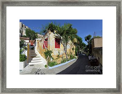 Colorful House In Plaka Framed Print