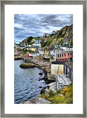 Colorful Houses Framed Print