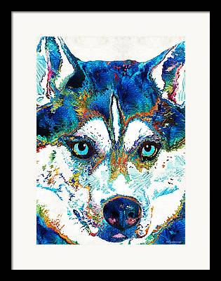 Sled Dog Framed Prints