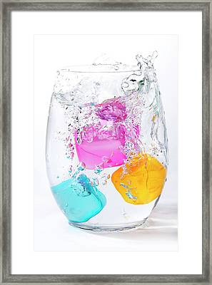 Colorful Ice Framed Print