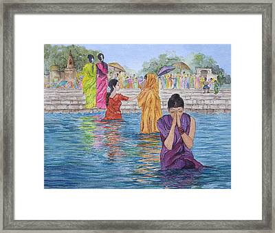 Colorful India Framed Print by Bonnie Sue Schwartz