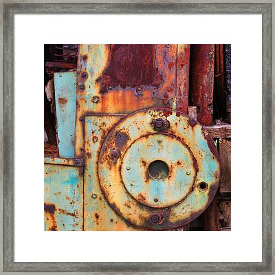 Colorful Industrial Plates Framed Print