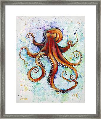 Colorful Ink Framed Print by Arleana Holtzmann