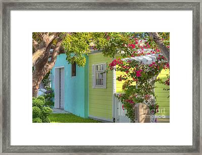 Colorful Island Home Framed Print by Juli Scalzi