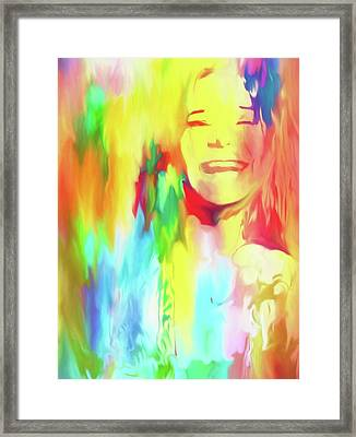 Colorful Janis Framed Print