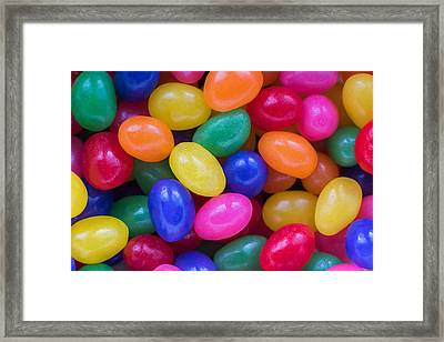 Colorful Jelly Beans Framed Print by Terry DeLuco