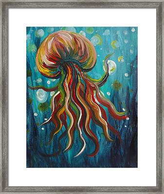 Colorful Jellyfish Framed Print