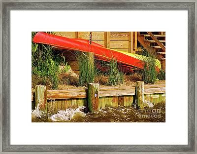 Framed Print featuring the photograph Colorful Kayak Duo by Lois Bryan