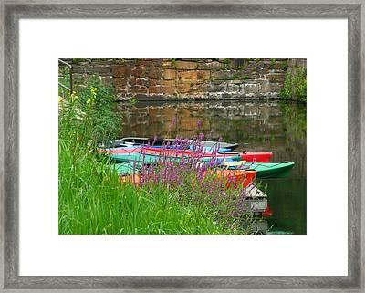 Colorful Kayaks Framed Print