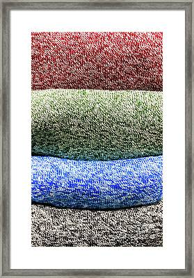 Colorful Knitwear Framed Print