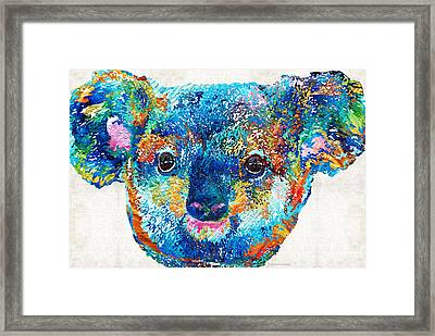 Colorful Koala Bear Art By Sharon Cummings Framed Print by Sharon Cummings