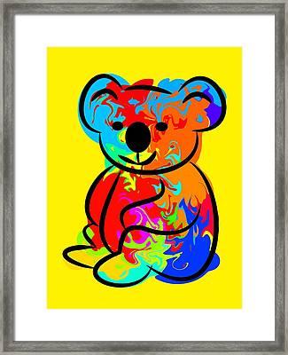 Colorful Koala Framed Print