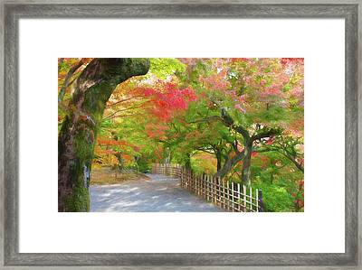 Colorful Kyoto Framed Print