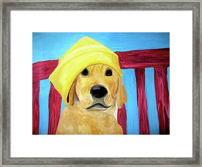 Framed Print featuring the painting Colorful Lab by Rebecca Wood