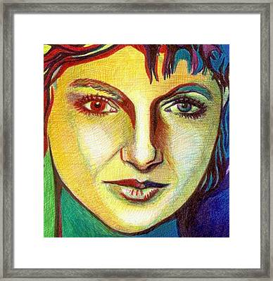 Colorful Lady Framed Print by Jerry  Stith