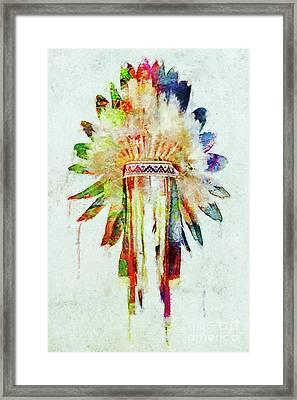 Colorful Lakota Sioux Headdress Framed Print