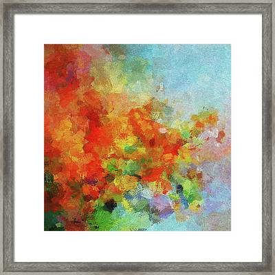 Framed Print featuring the painting Colorful Landscape Art In Abstract Style by Ayse Deniz