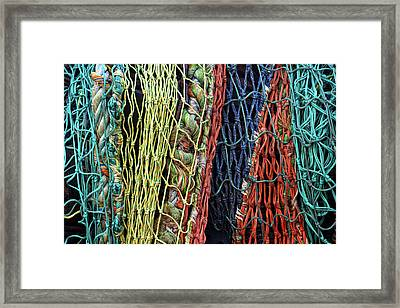Colorful Layers Of Fishing Nets Framed Print