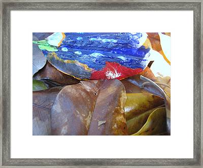Colorful Leaves Framed Print by HollyWood Creation By linda zanini