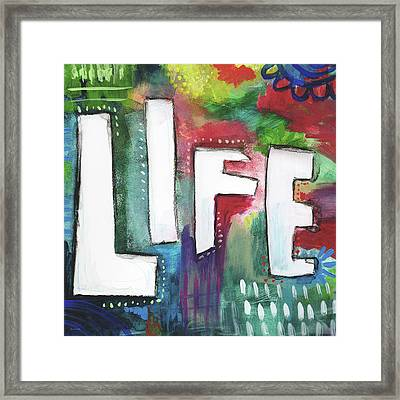 Colorful Life- Art By Linda Woods Framed Print by Linda Woods
