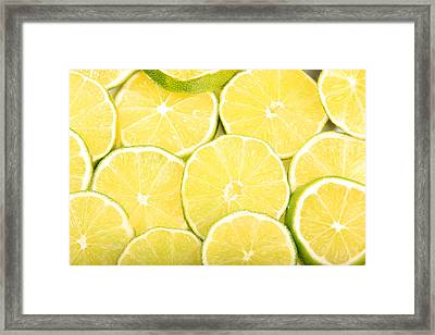 Colorful Limes Framed Print
