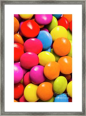 Colorful Lollies Macro Photography Framed Print