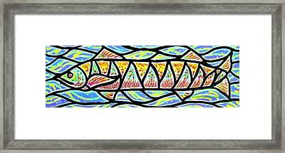 Framed Print featuring the painting Colorful Longfish by Jim Harris