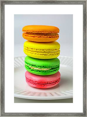 Colorful Macaroons Framed Print by Garry Gay