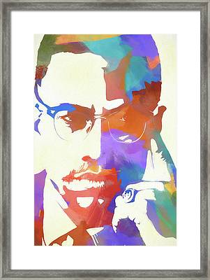 Colorful Malcolm X Framed Print