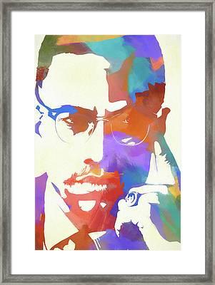 Colorful Malcolm X Framed Print