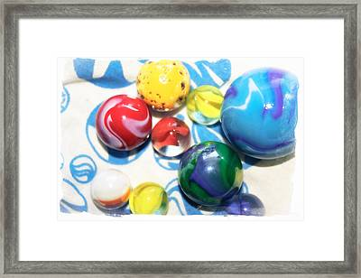 Colorful Marbles Framed Print by Colleen Kammerer