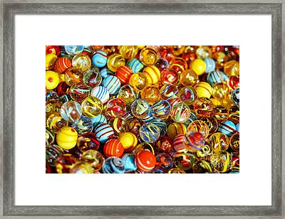 Colorful Marbles - Toys Still Life Framed Print by Thomas Jones