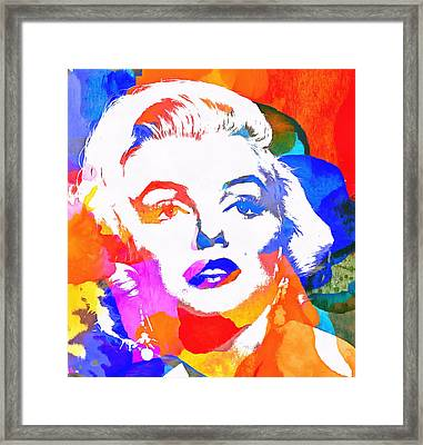 Colorful Marilyn Monroe Framed Print