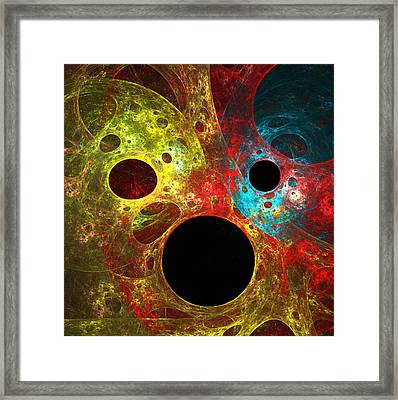 Colorful Masks Framed Print by Mary Lane