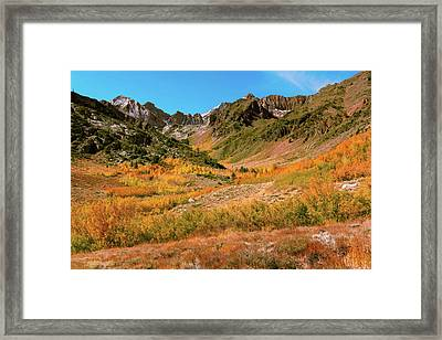 Colorful Mcgee Creek Valley Framed Print