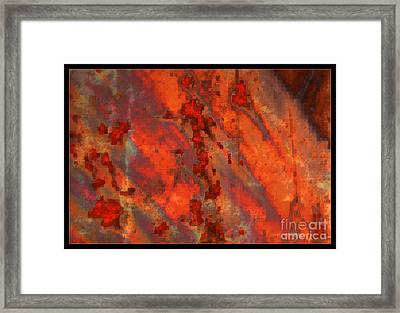 Colorful Metal Abstract With Border Framed Print