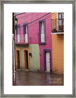 Colorful Mexican Homes Framed Print