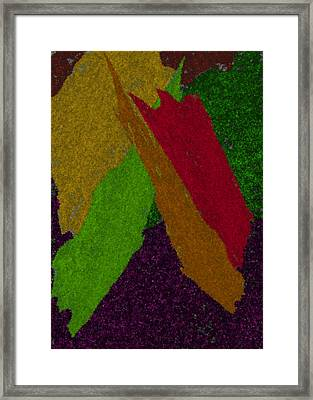Framed Print featuring the digital art Colorful by Michelle Audas