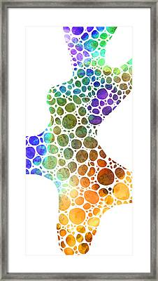 Colorful Modern Art - Colorforms 8 - Sharon Cummings Framed Print by Sharon Cummings