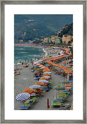 Colorful Monterosso Framed Print by Corinne Rhode