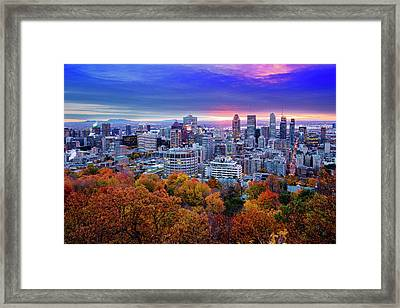 Framed Print featuring the photograph Colorful Montreal  by Mircea Costina Photography