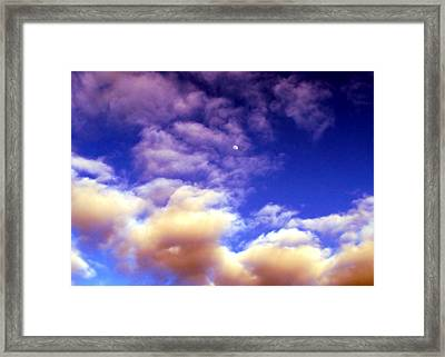 Colorful Moonscape Framed Print by Karen Scovill