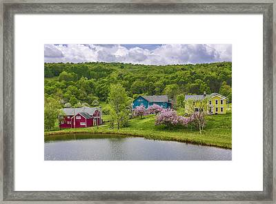 Framed Print featuring the photograph Colorful Mountain Homes by Paula Porterfield-Izzo