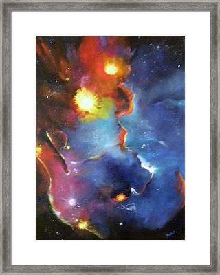 Colorful Nebula Framed Print