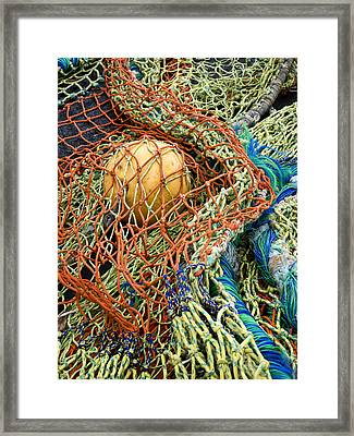 Colorful Nets And Float Framed Print by Carol Leigh