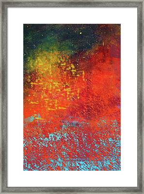 Framed Print featuring the painting Colorful Night by Nancy Merkle