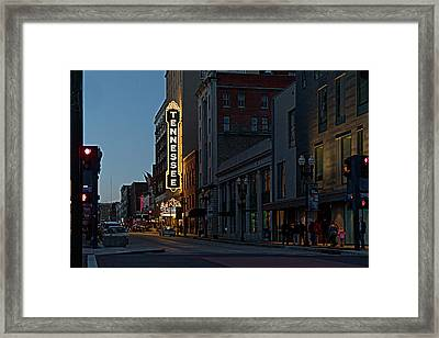 Colorful Night On Gay Street Framed Print