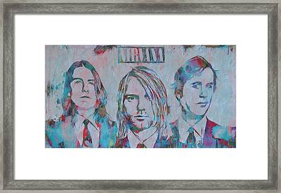 Colorful Nirvana Grunge Framed Print by Dan Sproul
