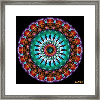 Colorful No. 9 Mandala Framed Print by Joy McKenzie